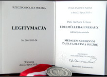 Obraz  Silver medal for long-standing service. Distinction conferred by the President of the Republic of Poland.